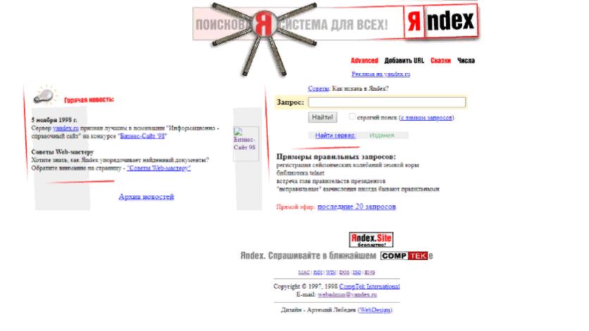 История Яндекса