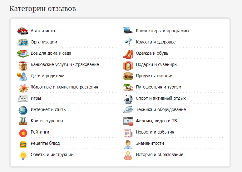 Сайты для заработка на отзывах