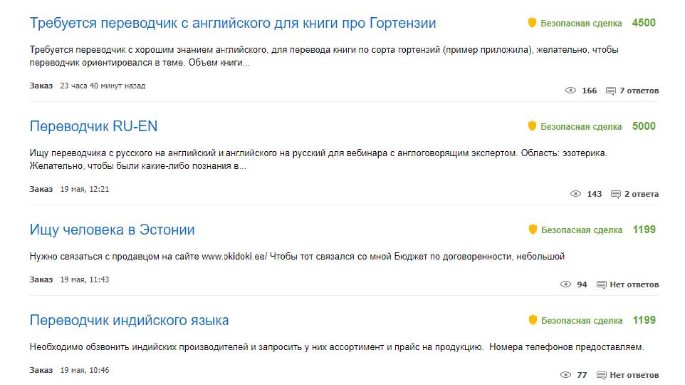 Где брать заказы на переводы